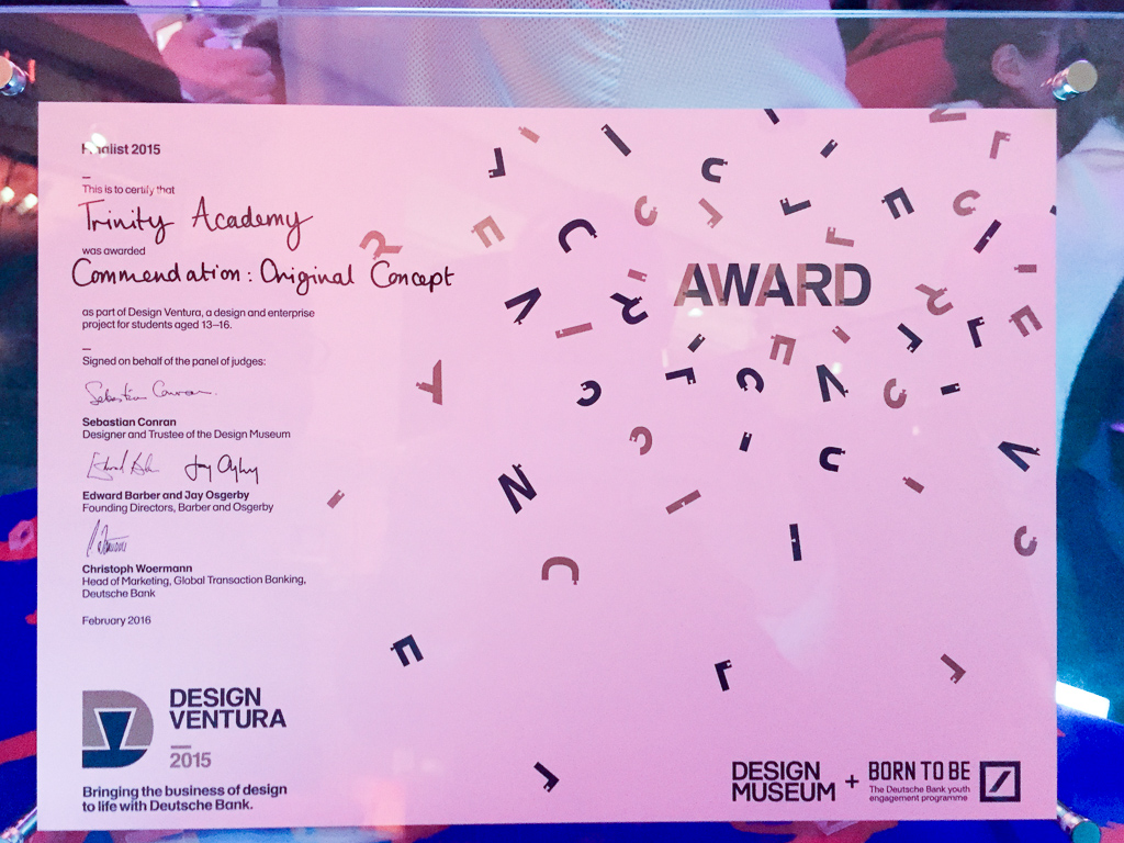 Design Ventura certificate