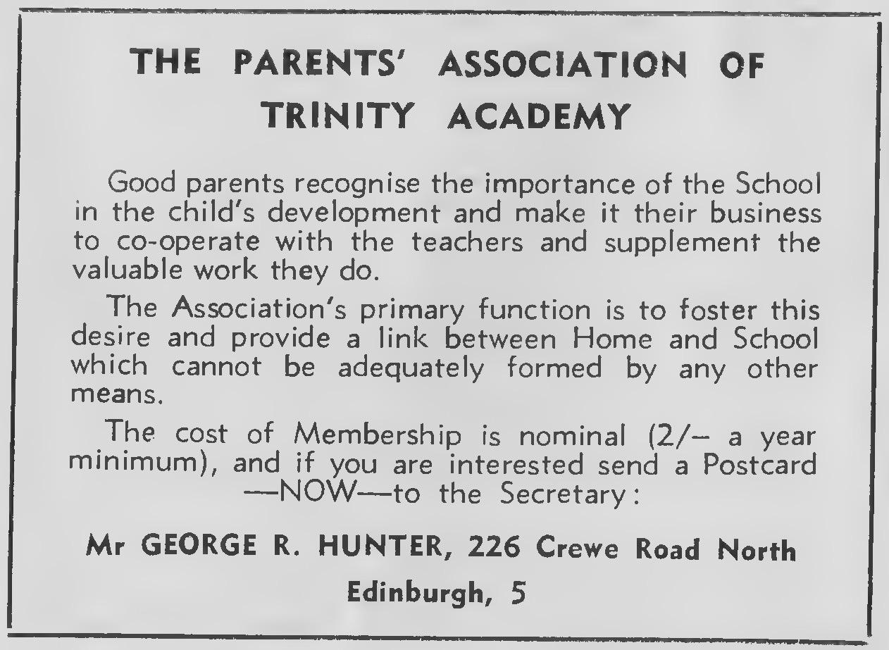 The Parents Assocuation 1965