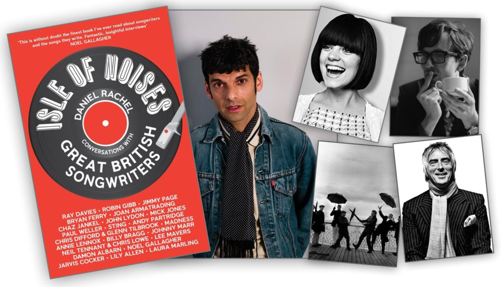 Daniel Rachel banner with Lily Allen, Madness, Paul Weller