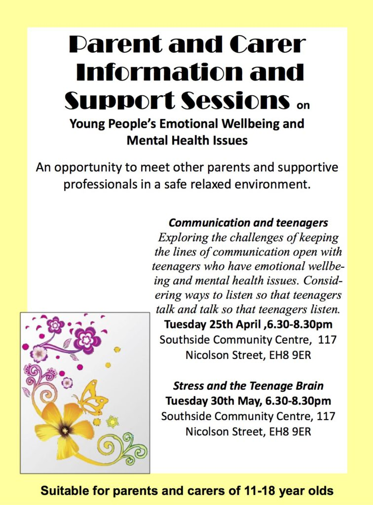 Parent and carer support sessions poster