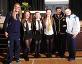 Pupils at prize giving