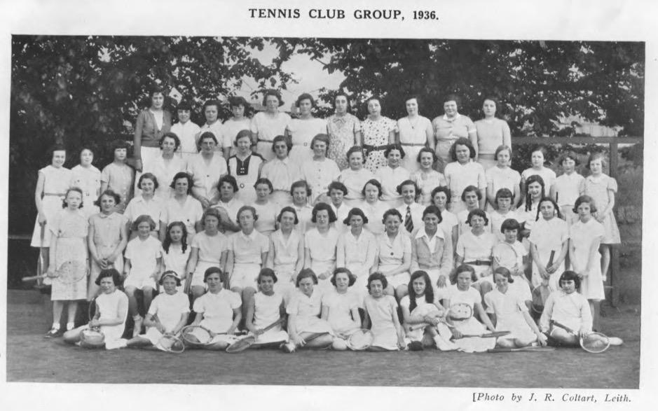 Trinity Academy tennis 1936