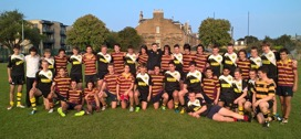 Rugby team posing at Bangholm