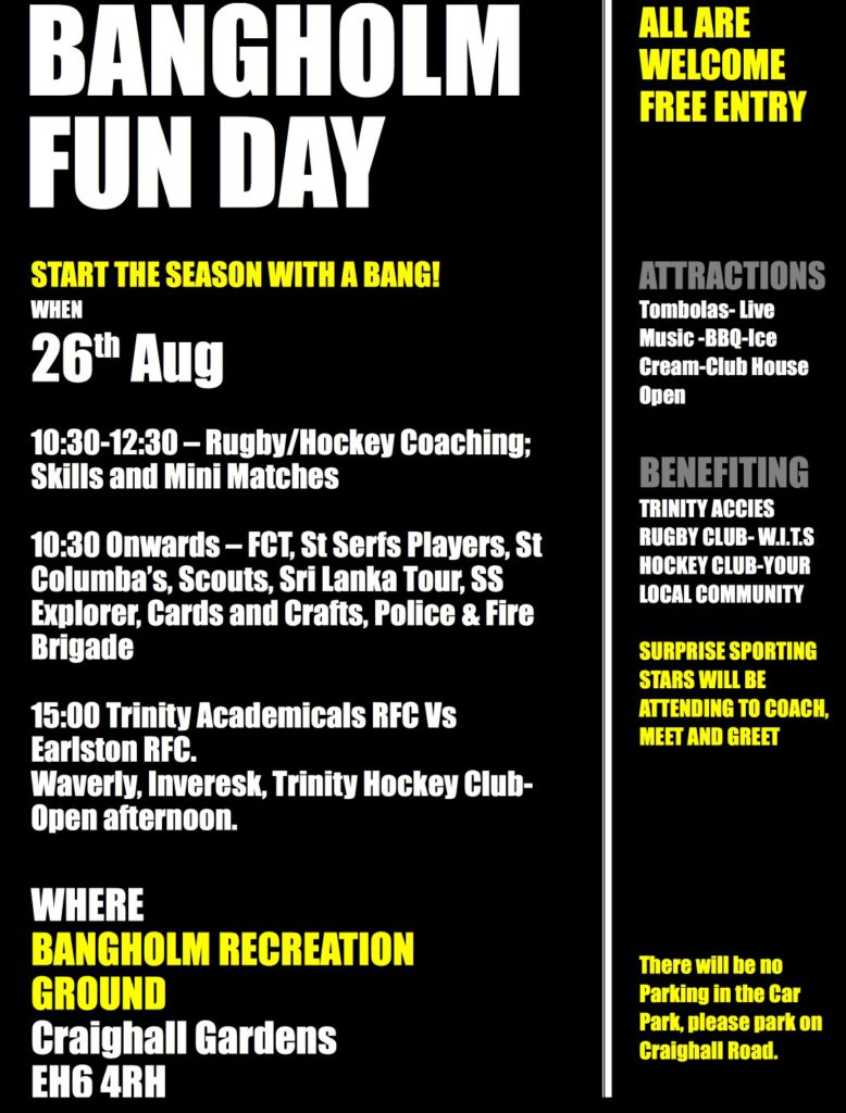 Rugby fun day poster