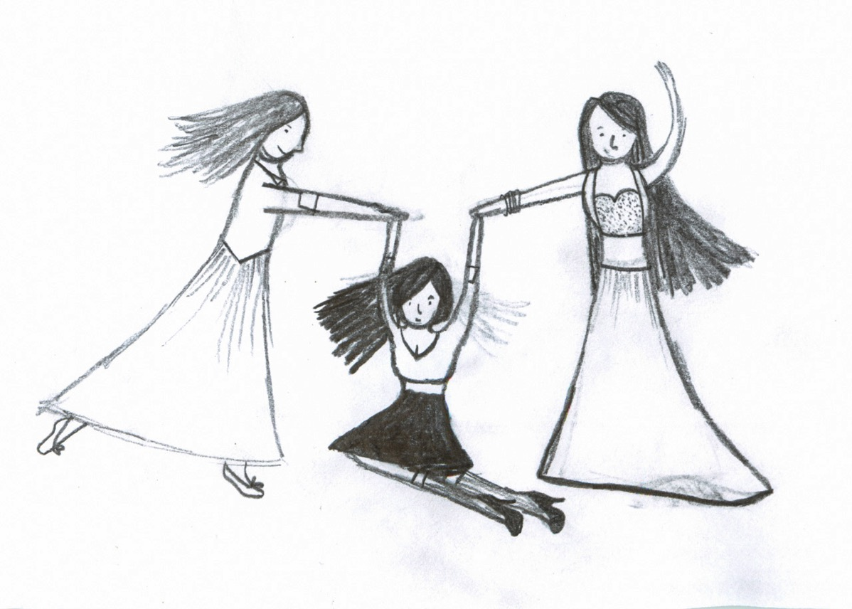 Drawing of dancers