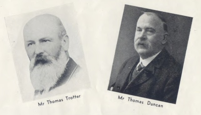 Photographs of the first two rectors of the school