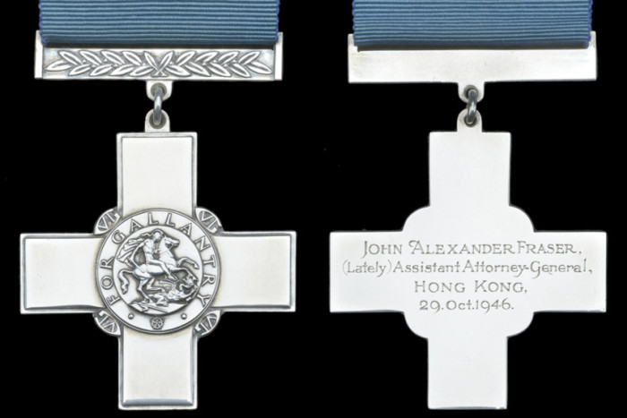 The George Cross awarded to John Fraser