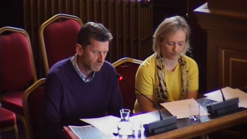 Mike and Morag address City Chambers meeting