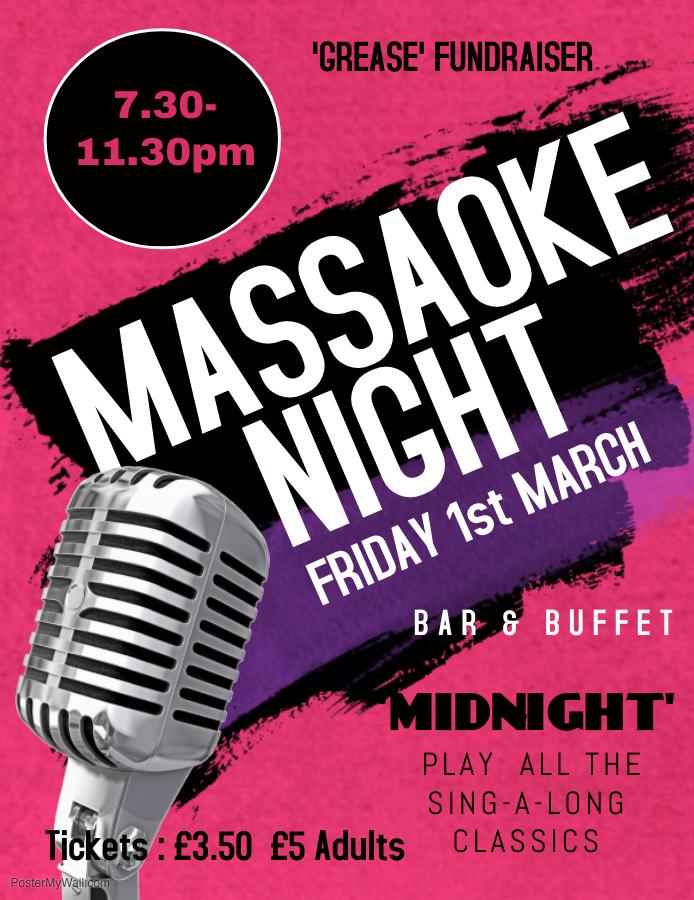 Massaoke Night poster