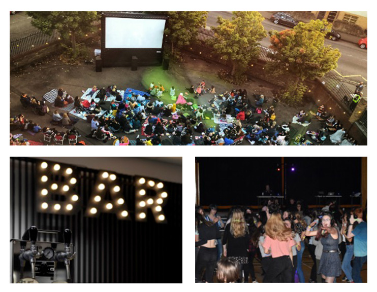 Scenes from the 2018 movie night