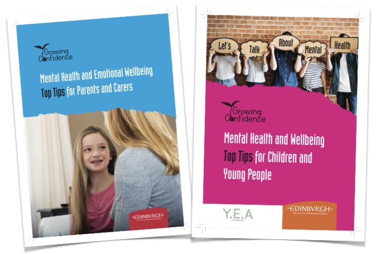 Cover pages of the two top tips brochures.